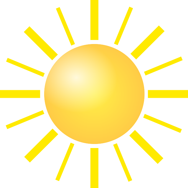Sun Bright Shine Yellow Light Clipart
