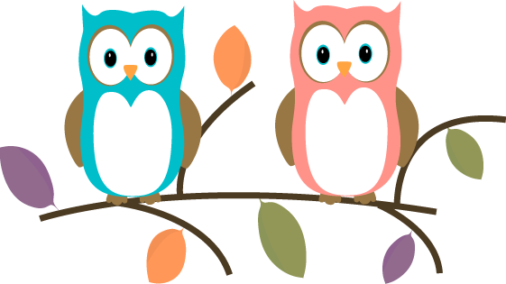 Two Owls Sitting On A Tree Branch Two Owls Sitting On A