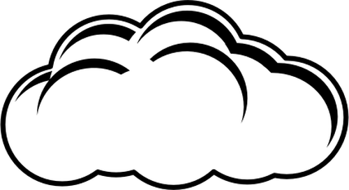Vector Of Black And White Cloudy Day Sign