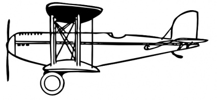Vintage Airplane Clipart