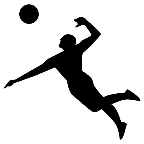 Volleyball Player Silhouette Clipat