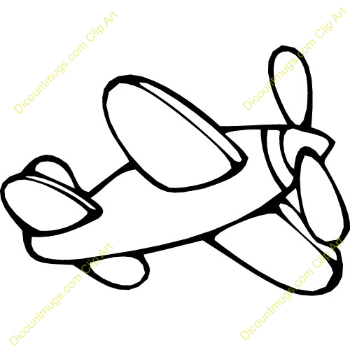 White Toy Airplane Clipart