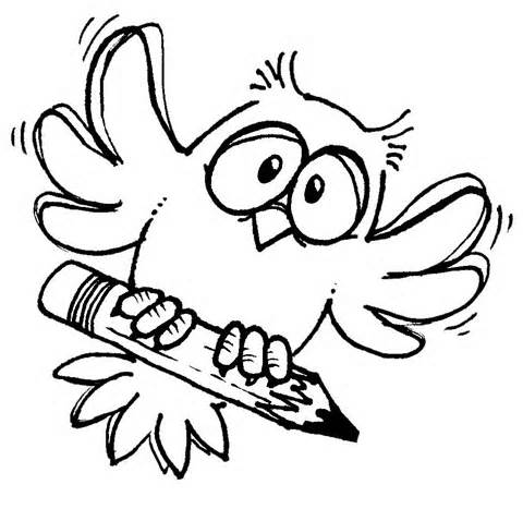 Wise Owl Clipart Black And White Free
