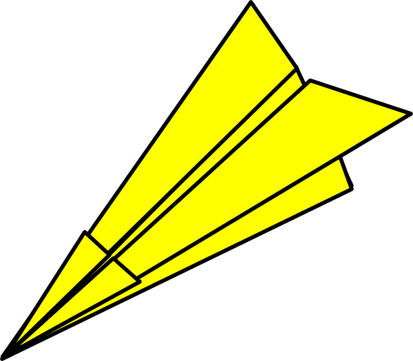 Yellow Paperplane At Vector Online