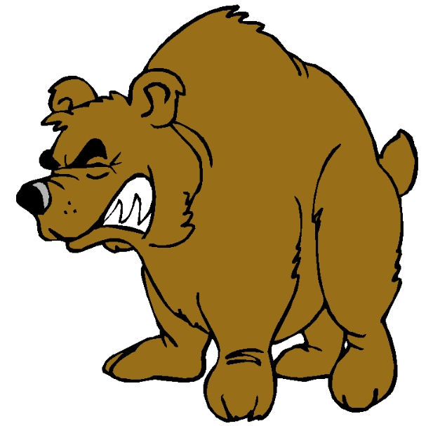 Angry Bear Cartoon Clipart