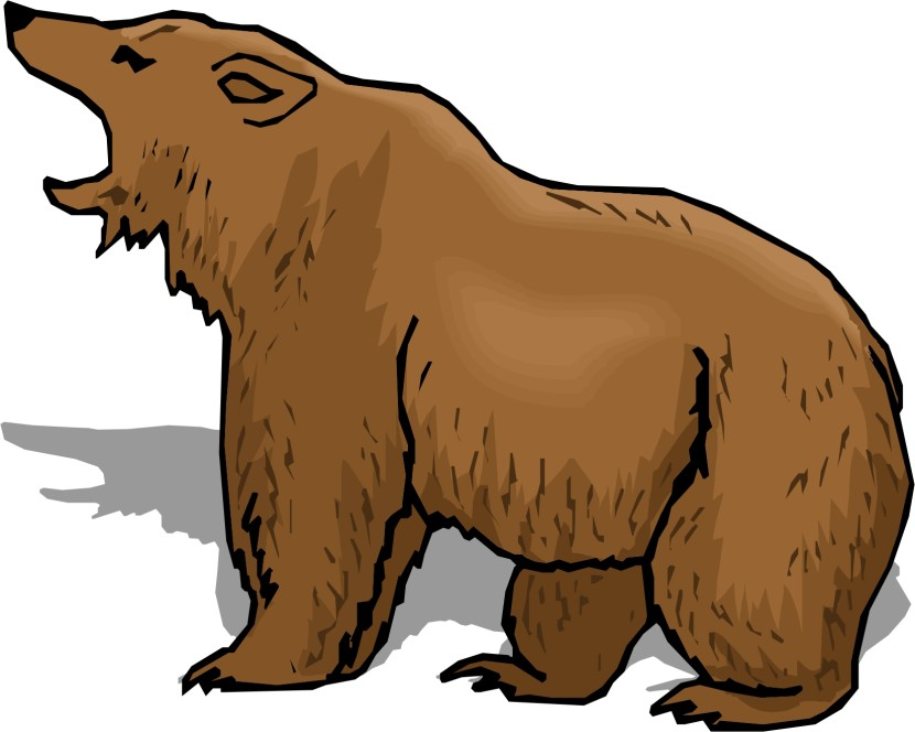 angry bear clipart image