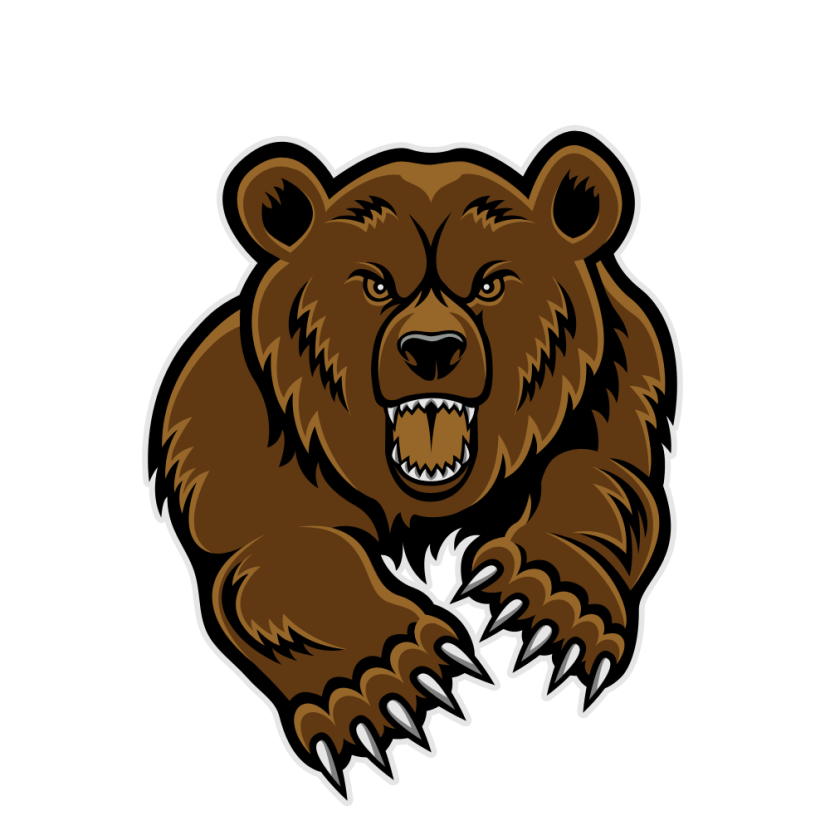 Angry Bear PNG Clipart