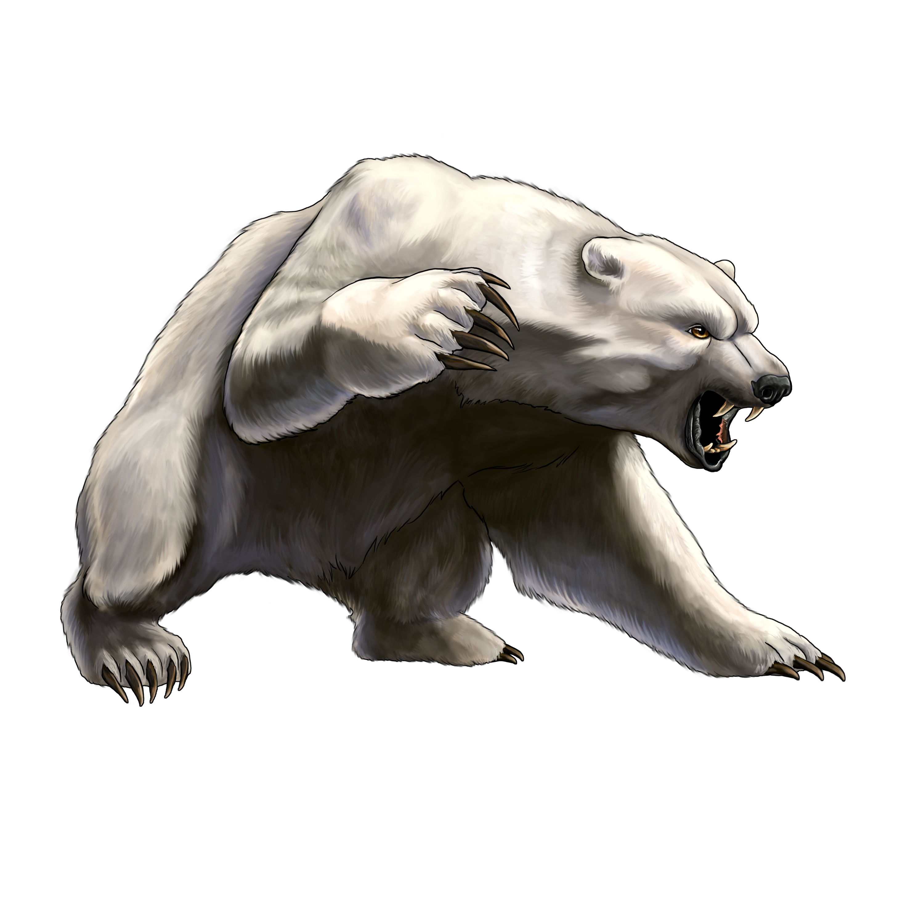 Angry White Bear PNG Clipart - Free Clipart PNG