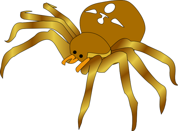 Brown Spider Clip Art