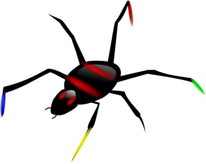 insect spider clipart
