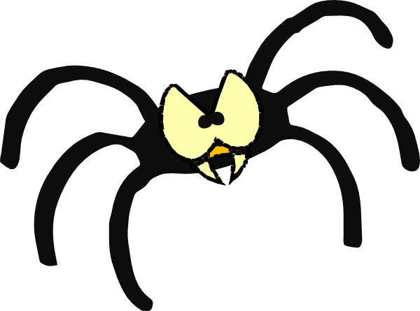 Mean Spider Clip Art