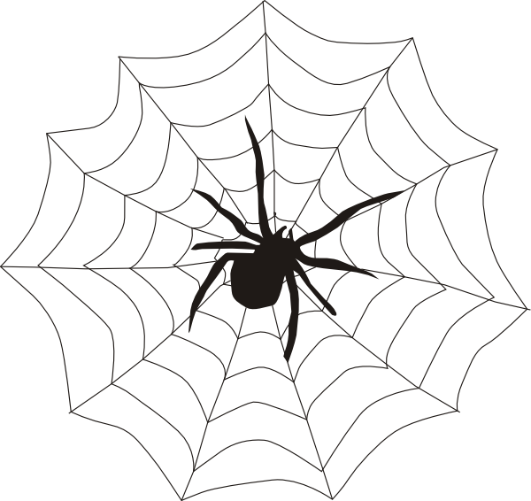 Spider And Web Clip Art