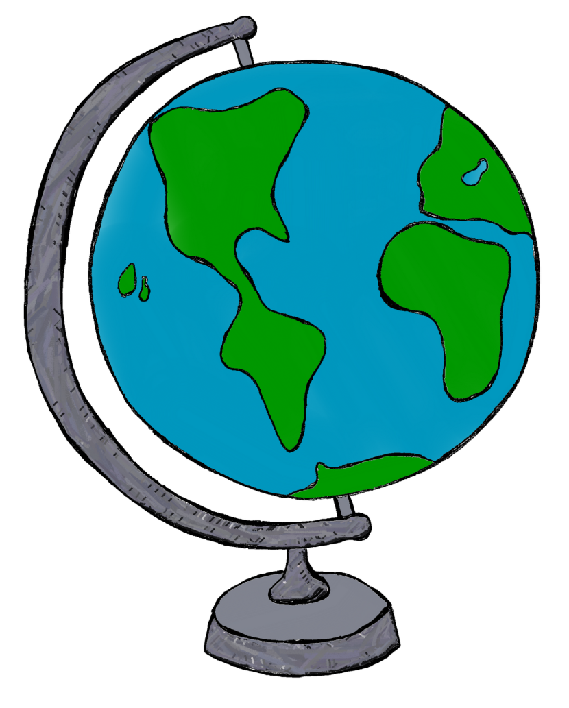Teaching First: My World Globe Clipart