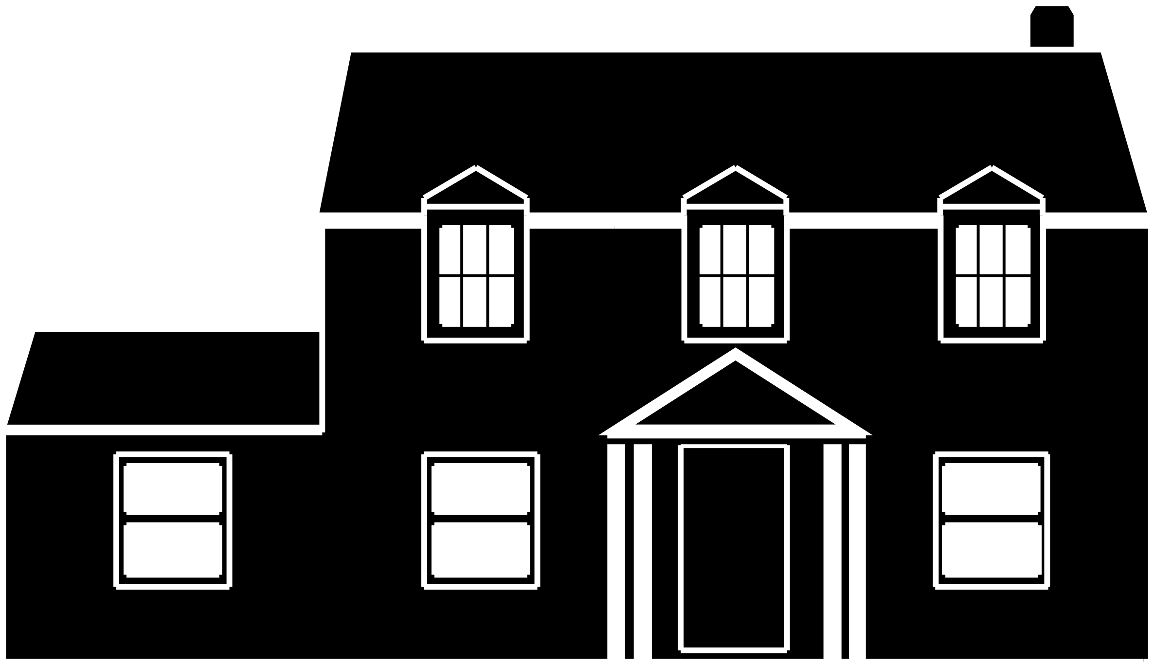 Line Art House Png : Best house clipart coloring black white