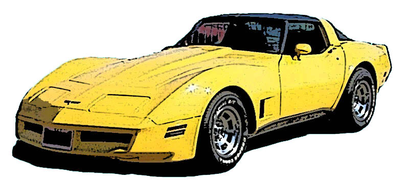Corvette Clipart Free Yellow