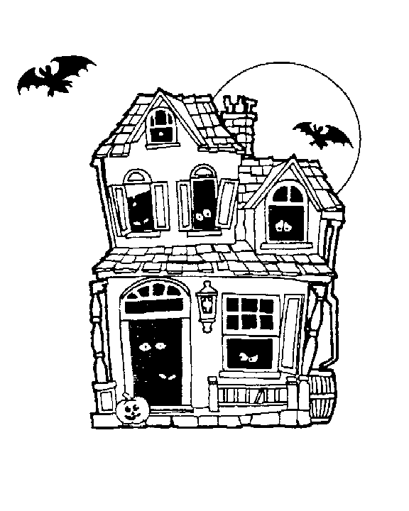 Free Haunted House Clipart Halloween