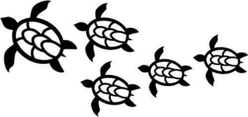 Free Hawaiian Turtle Art
