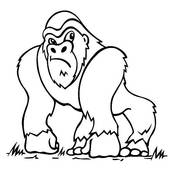 Gorilla Black and WhiteIllustrations Free