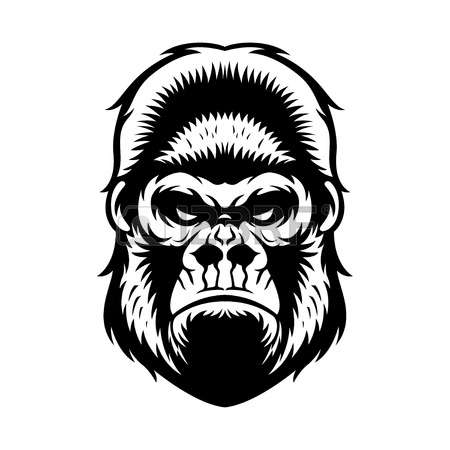 Gorilla Face Clipart Black And White