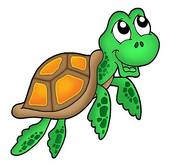Green Hawaiian Turtle Clipart