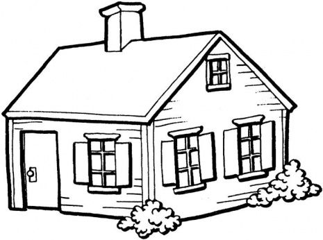 House Black And White Vector