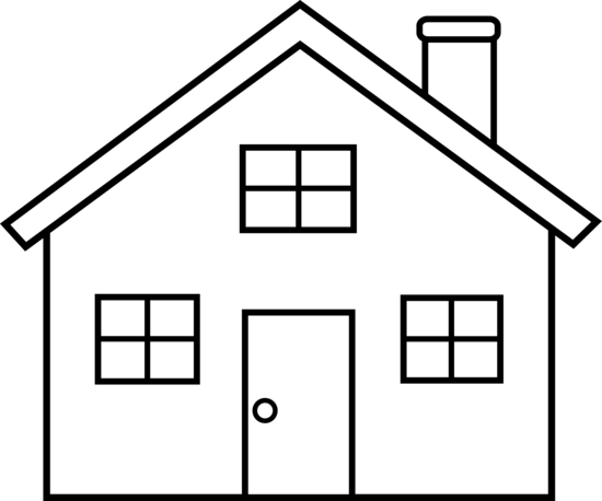 House Outline Clipart Black And White Free