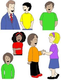Kids Having A Conversation Clipart