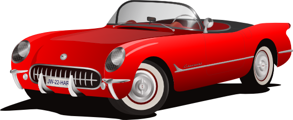 Red Corvette Clipart