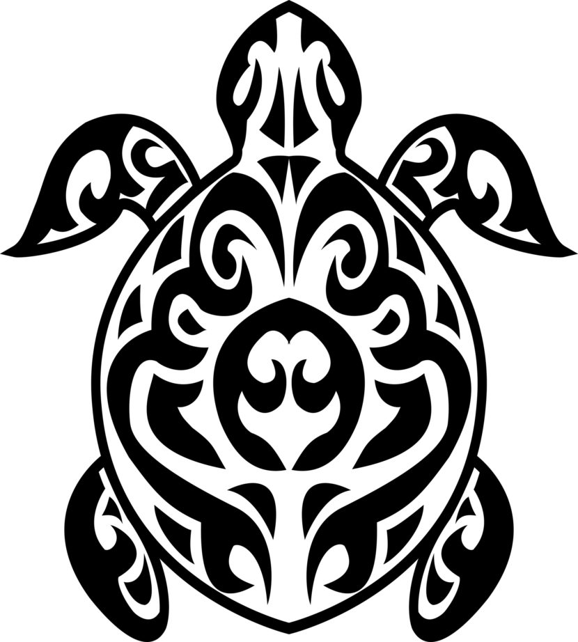 Tribal Turtle Clipart