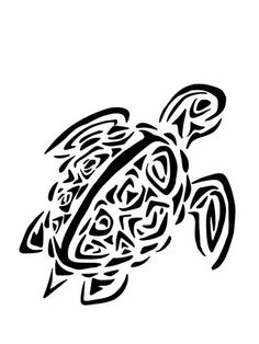 Tribal Turtle Clipart Black And White