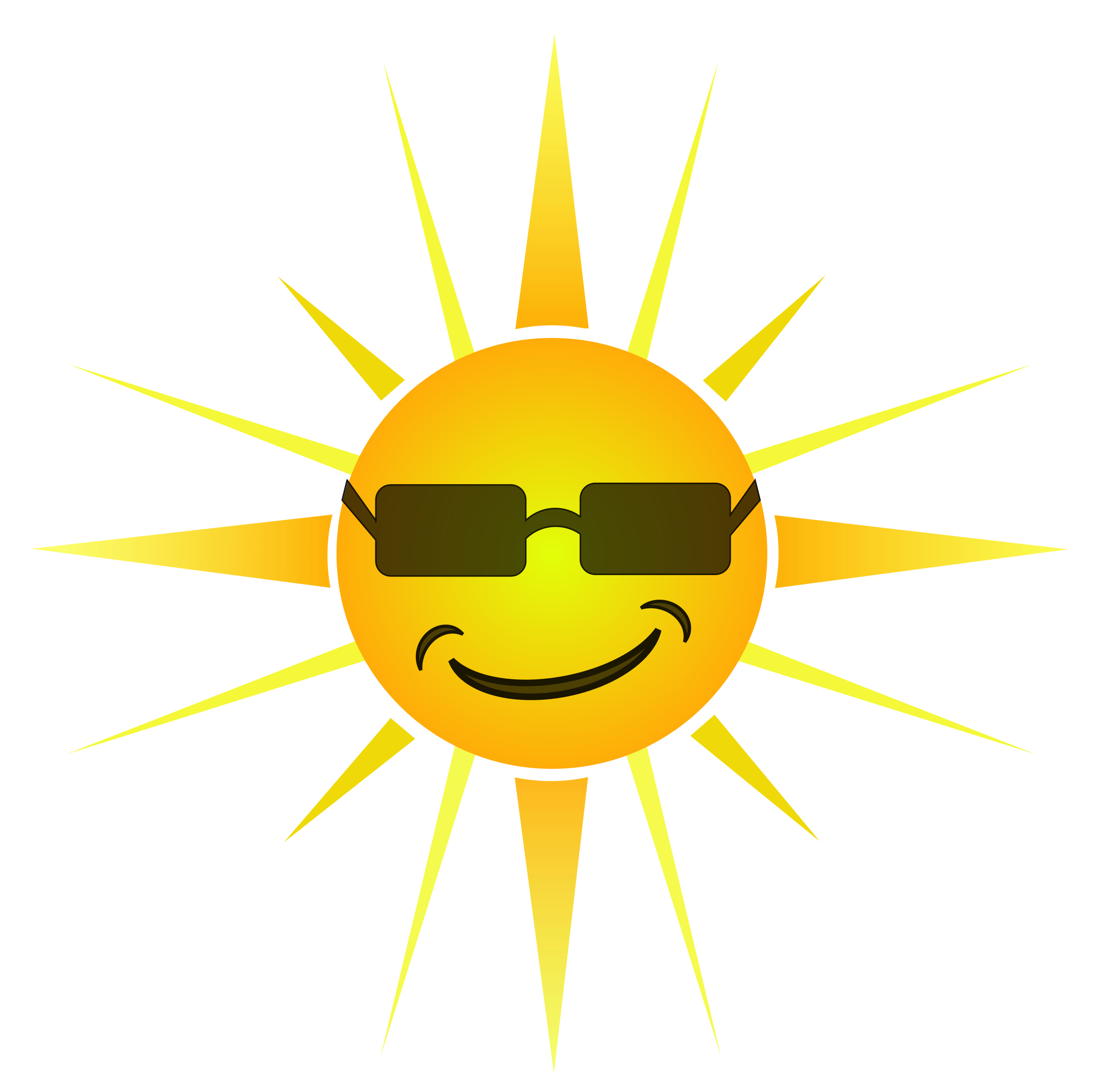 Clipart Cool Happy Sun