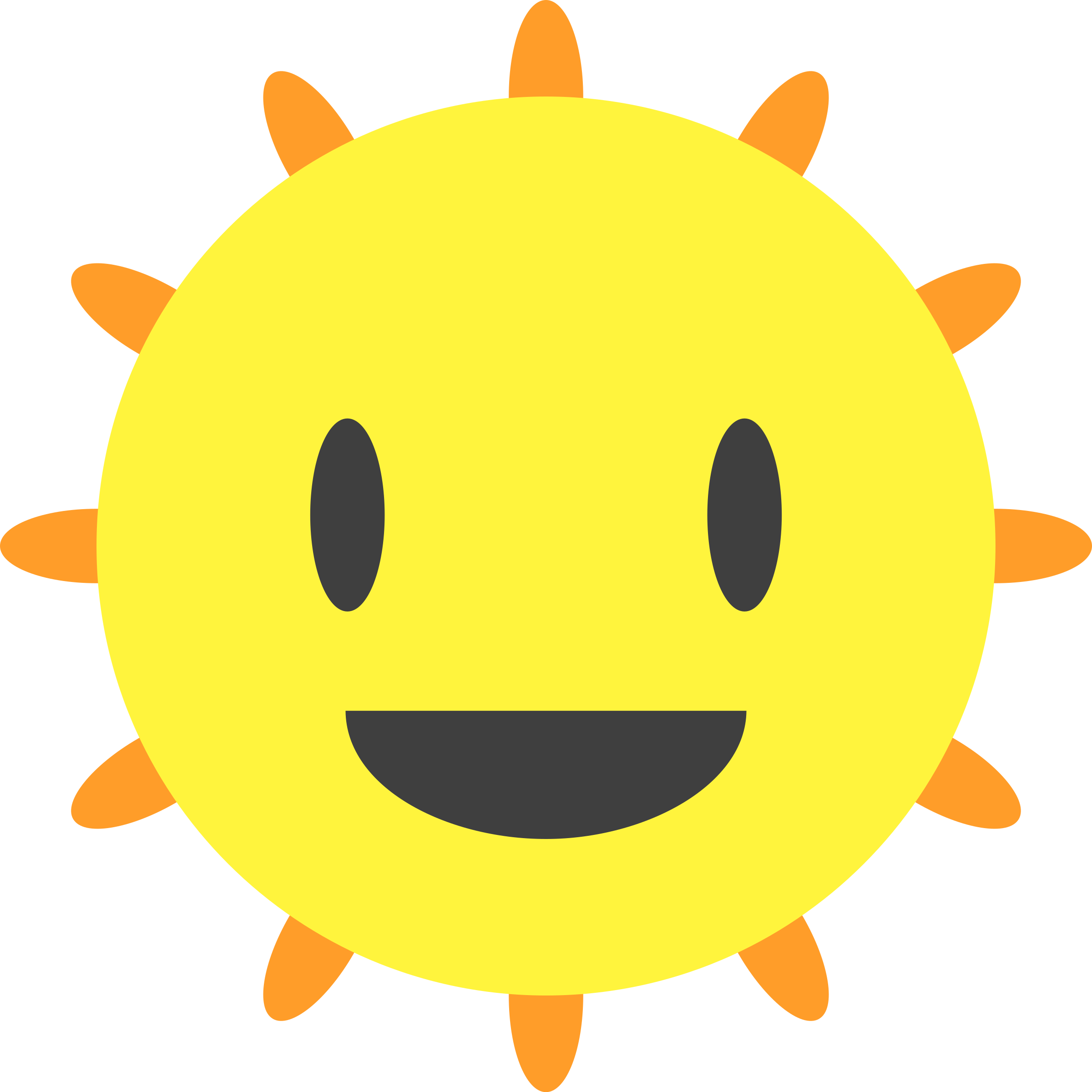 Clipart Happy Sun
