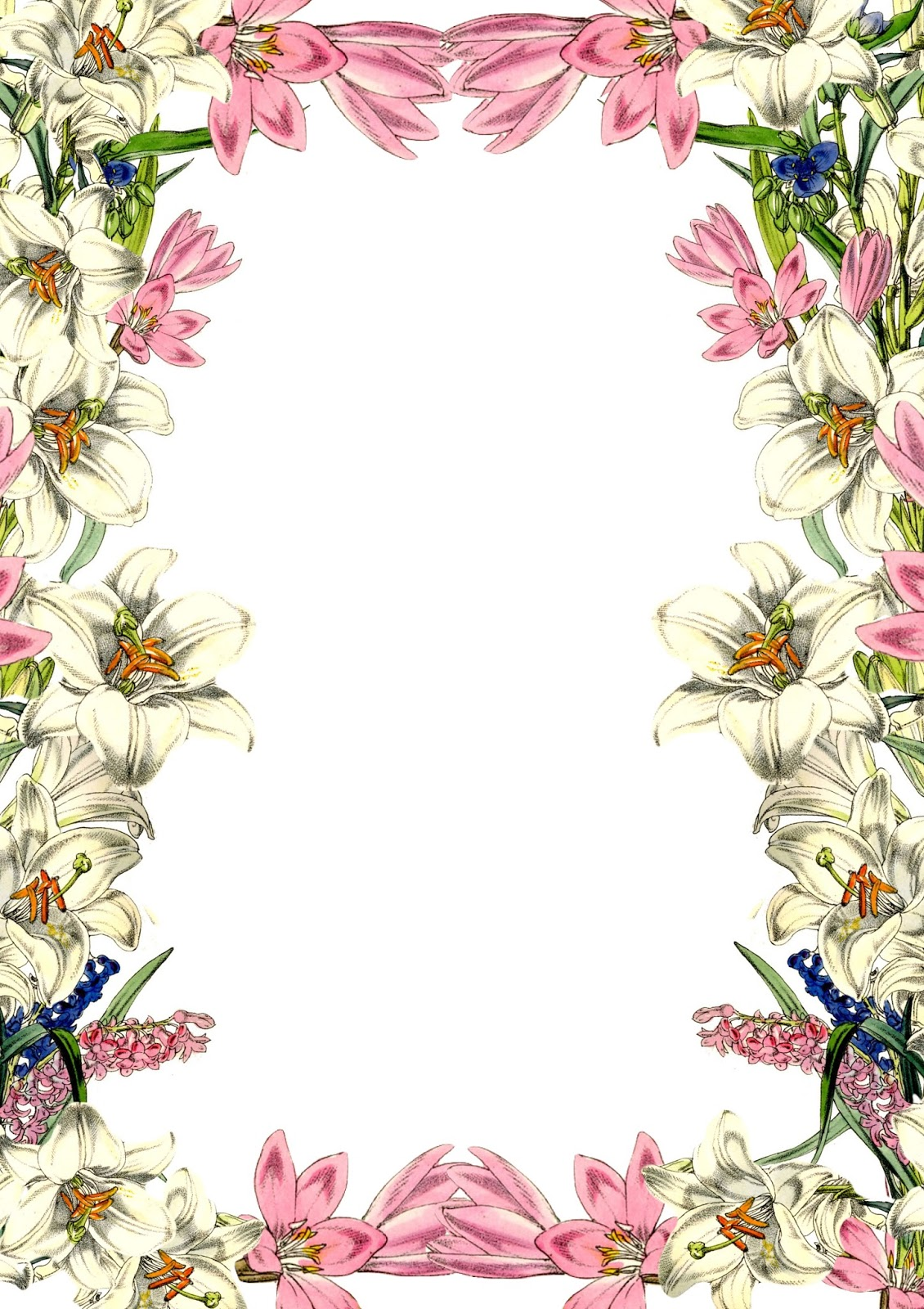 Vintage Flower Border Gaya Vintage Home Design 7