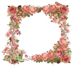 White Round Flowers Transparent Frame Wedding Frames