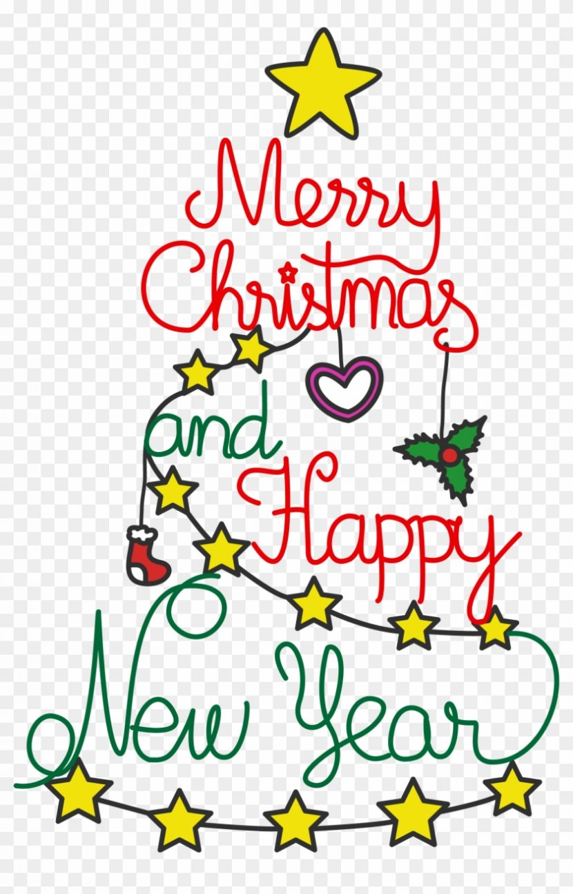 Free Merry Christmas And Happy New Year Celebration Christmas And