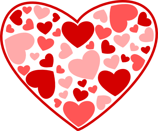 February Heart Clipart Heart Romantic For Love