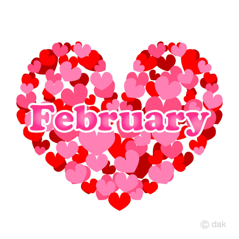 Free Heart February Clipart Image