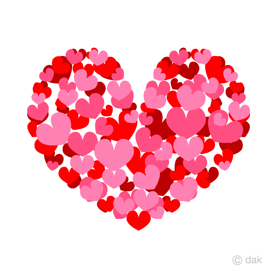 Free Spreading Pink Heart Clipart Image